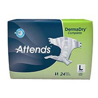"""Attends DermaDry Complete Briefs Large 44"""" - 58""""  48DDC30-Pack(age)"""
