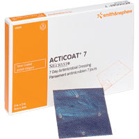 "ACTICOAT Seven Day Antimicrobial Barrier Dressing 6"" x 6""  5420241-Box"