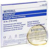 """Dermacea Aquaflo Hydrogel Wound Dressing Disc 4-3/4""""  61476154-Box"""