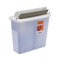 In-Room Sharps Container with Mailbox-Style Lid 2 Quart  6885021-Each
