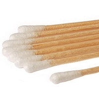 """Sterile Cotton-Tip Applicator with Wood Handle 6  HA258061WCHOSPI-Box"""""""