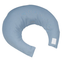 Comfy Crescent Pillow with Blue Satin Zippered Cover  HFNC6310-Case