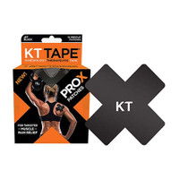 "KT Tape Pro X, 4 x 4"", Black  KJ4005785-Box"""