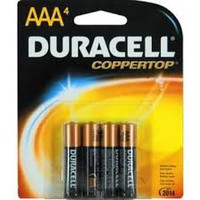 Duracell AAA Battery (4 count)  PH1086305-Pack(age)