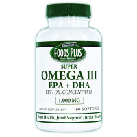 Omega III EPA Fish Oil 1000 mg (60 Count)  WHP343-Case