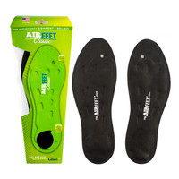 AirFeet CLASSIC Black Insoles, Size 1S, Pair  YFAF000C1S-Each