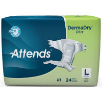 """Attends DermaDry Plus Briefs Large 44"""" - 58""""  48DDP30-Pack(age)"""