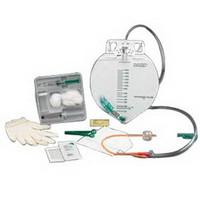 BARDEX 100% Silicone Drain Bag Foley Catheter Tray 14 Fr 5 cc  57897214-Case