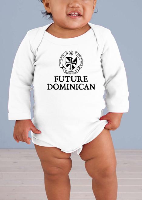 Future Dominican Long-Sleeve Baby Onesie