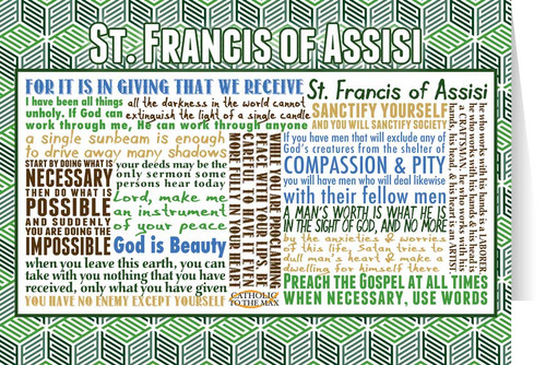 Saint Francis of Assisi Quote Card
