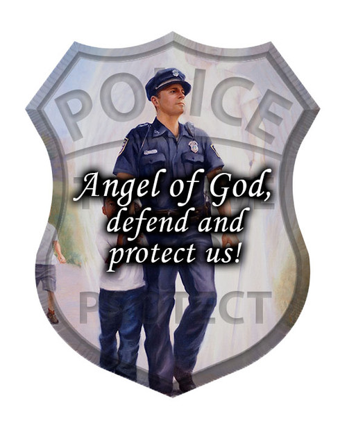The Protector: Police Guardian Angel Visor Clip