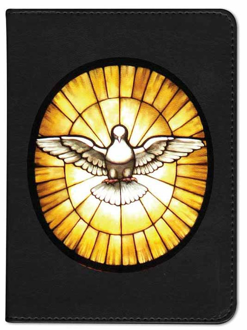 Personalized Catholic Bible with Holy Spirit Cover - Black RSVCE