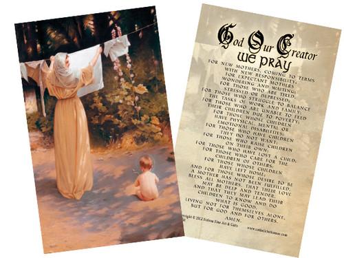 Polish Madonna Holy Card
