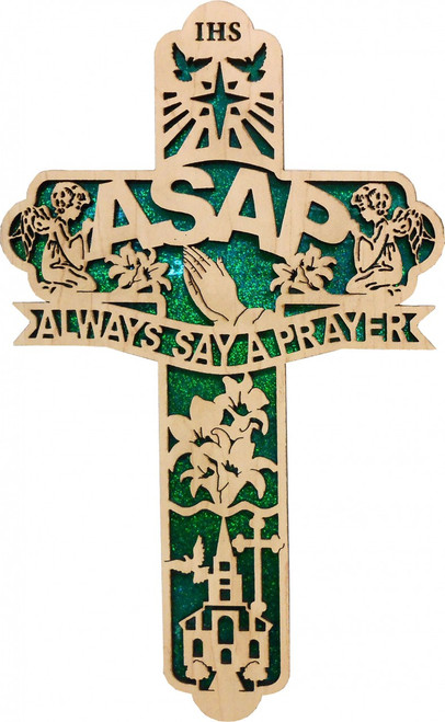 ASAP Acronym Engraved Cross