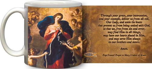 Mary Undoer of Knots Pope Francis' Prayer Mug