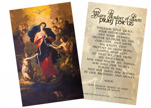 Mary Undoer of Knots Pope Francis' Prayer Holy Card