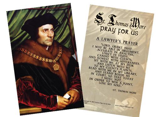 St. Thomas More Holy Card