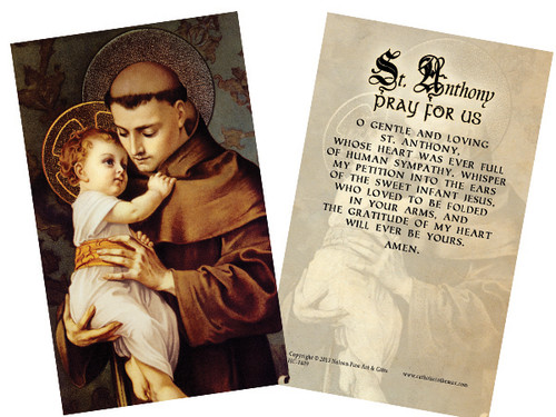 St. Anthony Holy Card