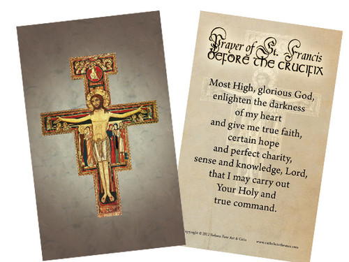 San Damiano Holy Card