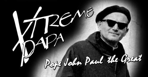 St. John Paul II Xtreme Papa Vinyl Bumper Sticker