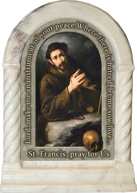 St. Francis of Assisi Prayer Desk Shrine