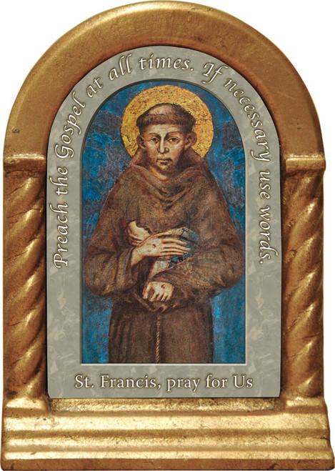 St. Francis of Assisi II Prayer Desk Shrine