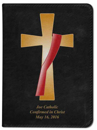 Personalized Catholic Bible with Deacon's Cross Cover - Black RSVCE