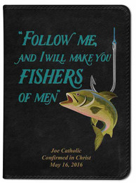 Personalized Catholic Fisherman's Bible - Black NABRE