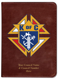 Personalized Catholic Bible with Knights of Columbus Cover - Burgundy RSVCE