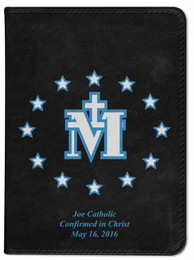 Personalized Catholic Bible with Miraculous Medal Cover - Black NABRE