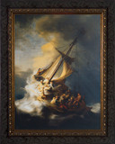 Storm on the Sea of Galilee by Rembrandt - Framed Art