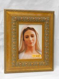 Our Lady of Medjugorje 5x7 Antique Gold Framed Print
