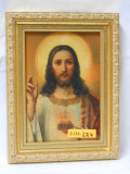 Sacred Heart of Jesus 5x7 Bright Gold Framed Print