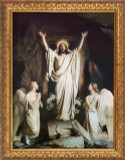 The Resurrection by Carl Bloch - Gold Framed Art
