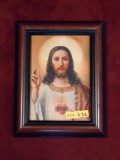 Sacred Heart of Jesus 5x7 Brown Framed Print
