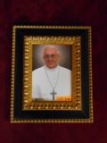 Pope Francis 5x7 Black & Gold Framed Print