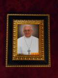 Pope Francis 5x7 Black & Gold Framed Print