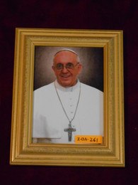Pope Francis 5x7 Bright-Gold Framed Print