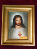 Traditional Sacred Heart of Jesus 5x7 Gold Framed Print