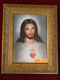 Traditional Sacred Heart of Jesus 5x7 Ornate Gold Framed Print