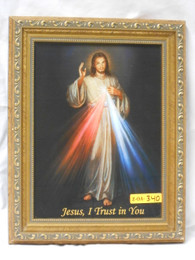 Divine Mercy 8x10 Bright Gold Framed Print