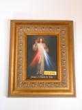 Divine Mercy 5x7 Ornate-Gold Framed Print