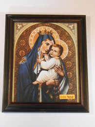 Our Lady of Mt. Carmel 8x10 Dark Framed Print