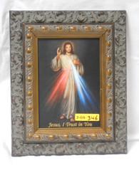 Divine Mercy 5x7 Dark-Ornate Framed Print