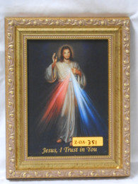 Divine Mercy 5x7 Embellished Gold Framed Print