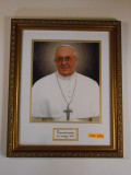 Pope Francis with Signature 11x13 Framed Print