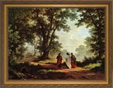 Road to Emmaus - Gold Framed Art