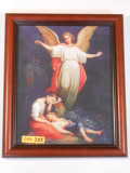 Guardian Angel 8x10 Mahogany Framed Print