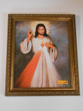 Divine Mercy with Sacred Heart 10x12 Framed Print