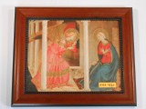 Annunciation 8x10 Simple-Brown Framed Print